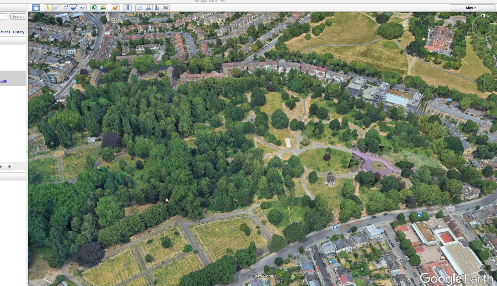 ladywell cemetary google earth